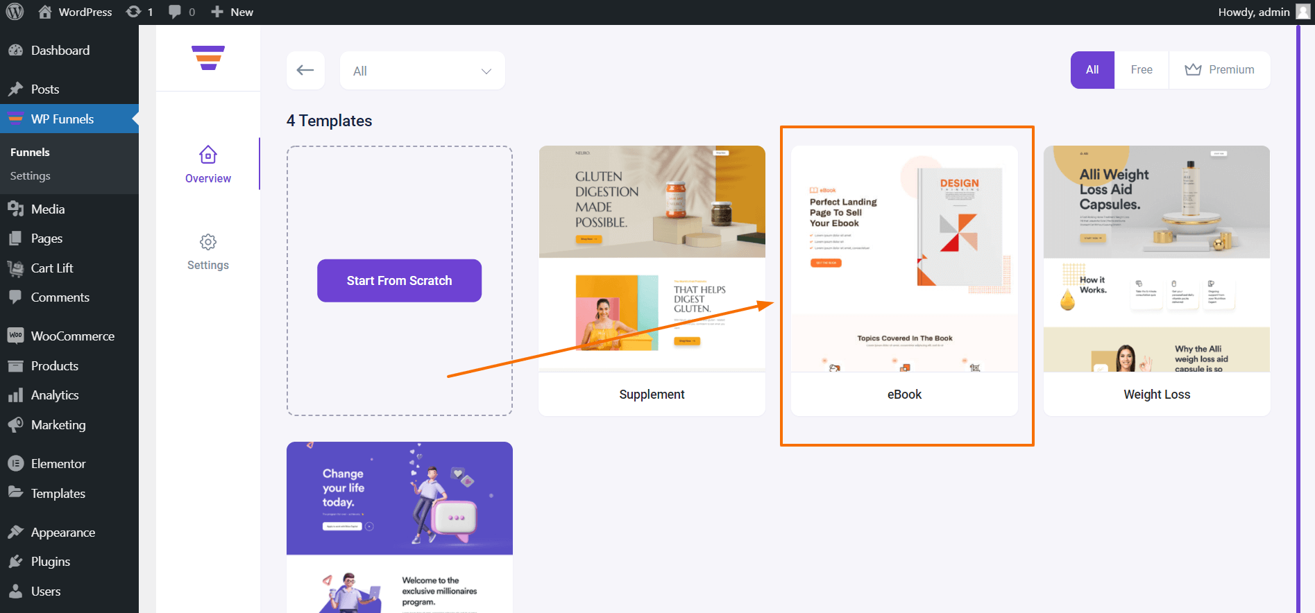 WP Funnels Import Template