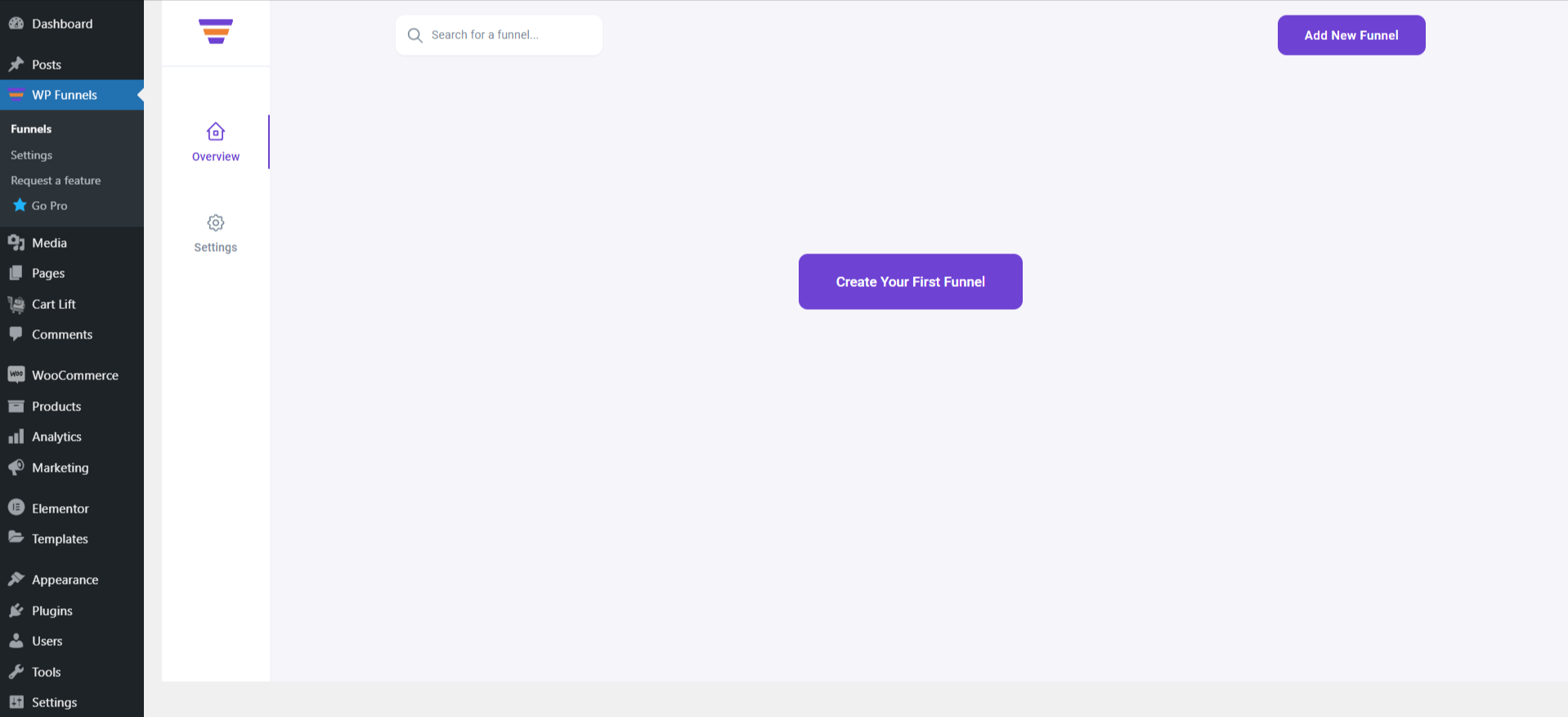 WPFunnels Dashboard